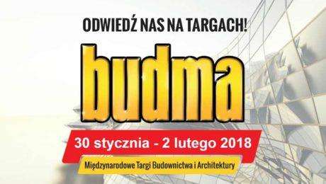 Zapraszamy na targi BUDMA 2018