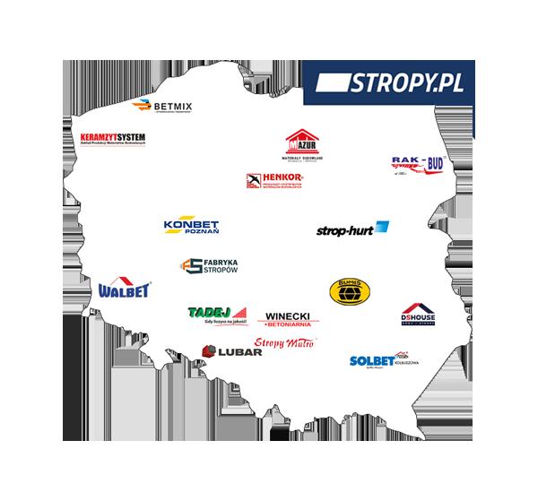 Mapa producentów stropów - STROPY.pl